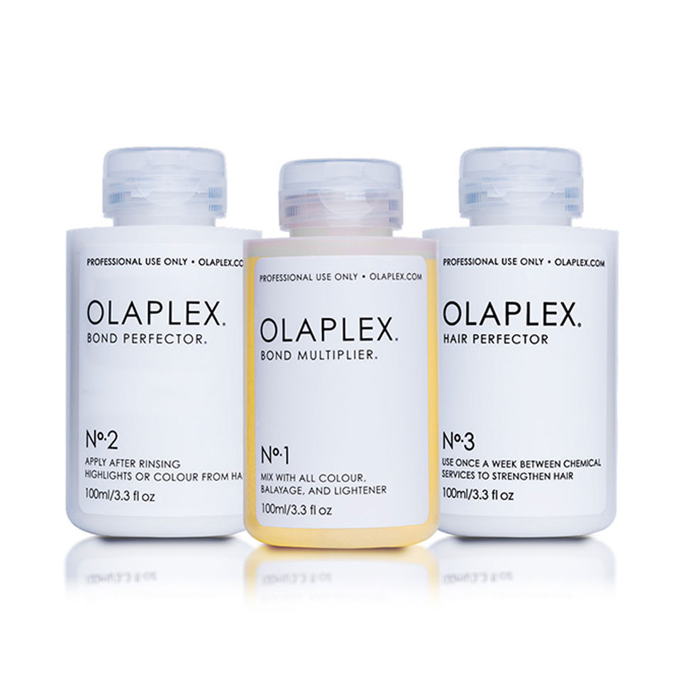 Range of Olaplex Products used at Adrian J Hair Salon Sunshine Beach Noosa